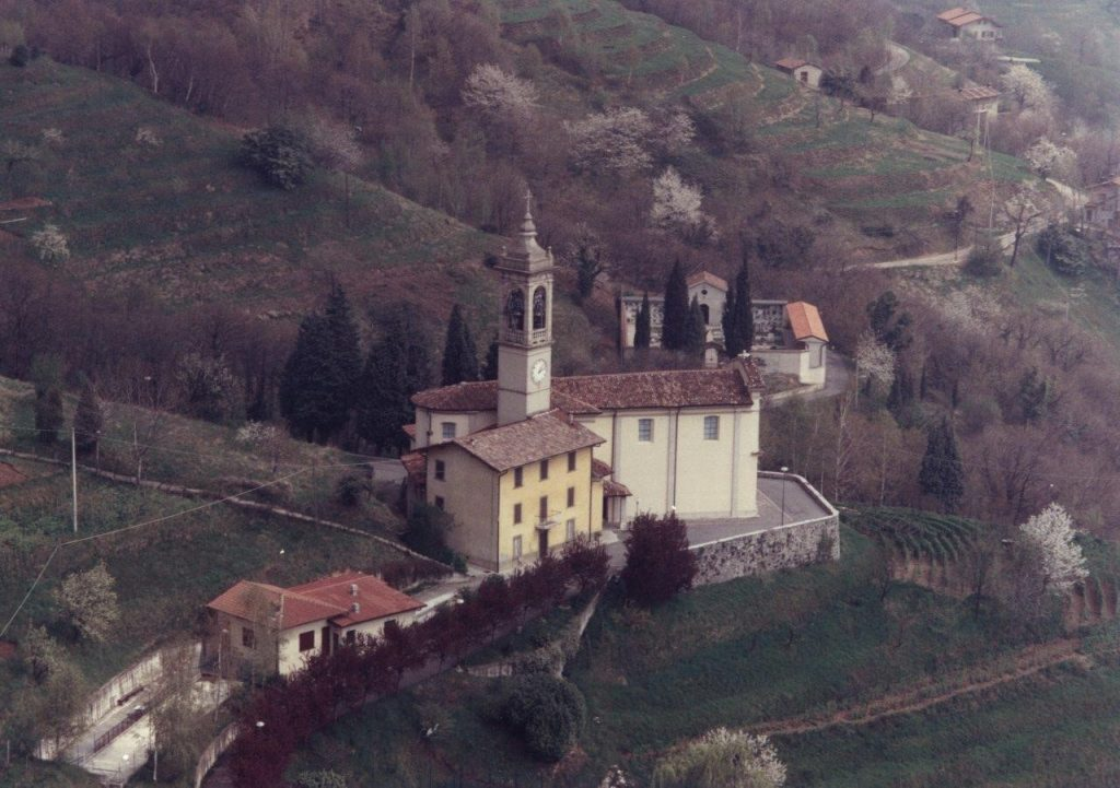 Church of San Rocco in the locality of Albenza, Almenno San Bartolomeo (Italy) and where Domitilla was baptised and where she married Danny
