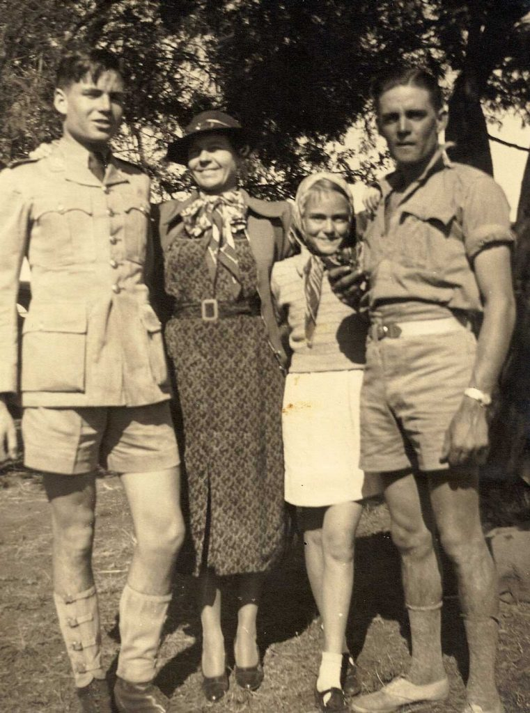 Danny Hyams (left), mother Agnes Le Breton, sister Dina and brother Louis just before WWII