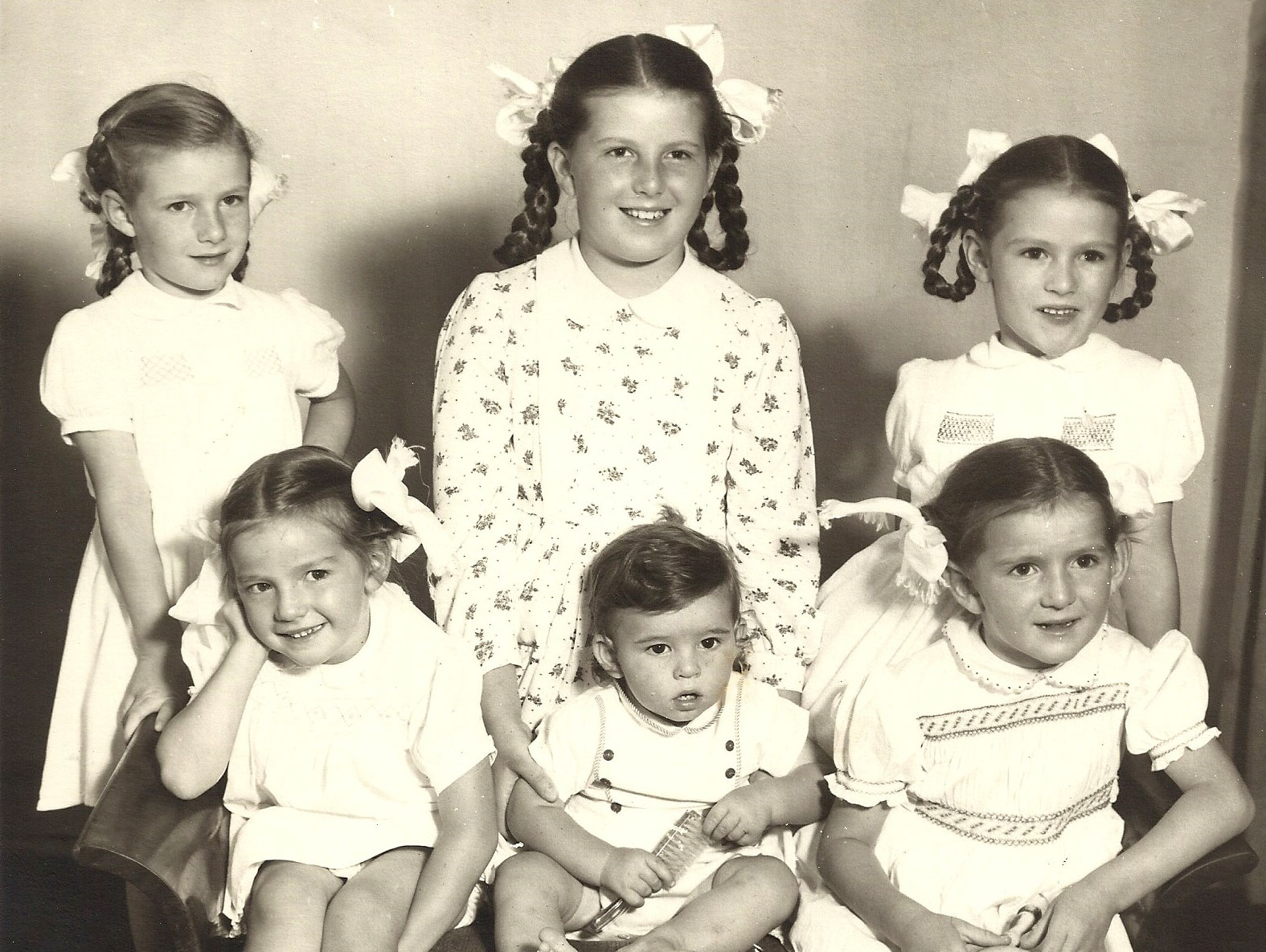 Domitilla and Danny's children ca 1957