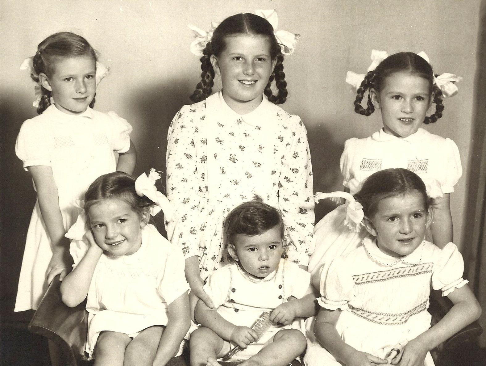 Domitilla and Danny's children ca 1957