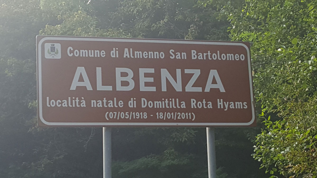 Locality of Albenza, Italy, birthplace of Domitilla acknowledges one of its daughters