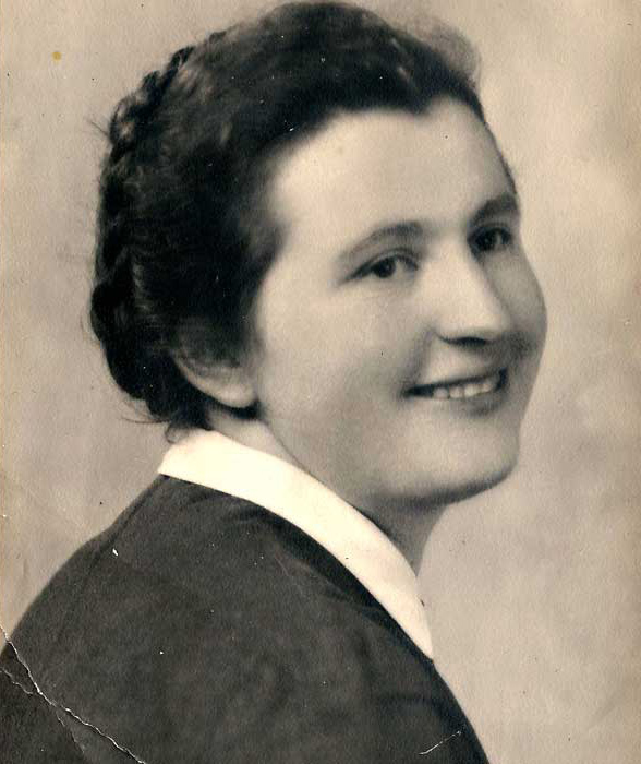 Maria 'Domitilla' Hyams née Rota in her youth